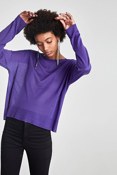 Image: Sweater with draped sleeves Zara